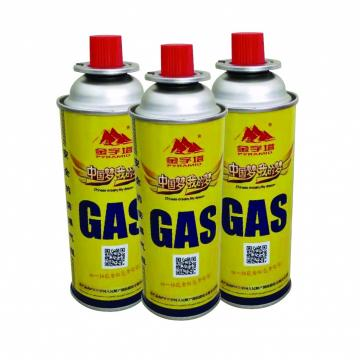 NOZZLE VALVE TYPE Safety Powerful Butane Gas Canister 220G