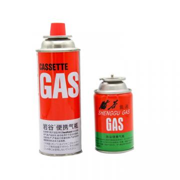 227g Round Shape Camping portable butane gas cylinders cooking gas stove