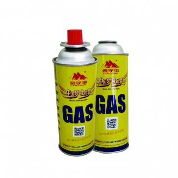 Camping Round Shape Dispossable small butane gas canister for sale