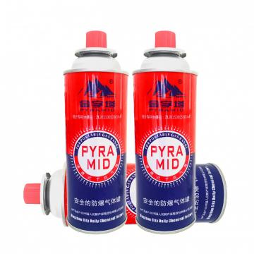NOZZLE VALVE TYPE Wholesale refined portable butane gas cartridge 250g
