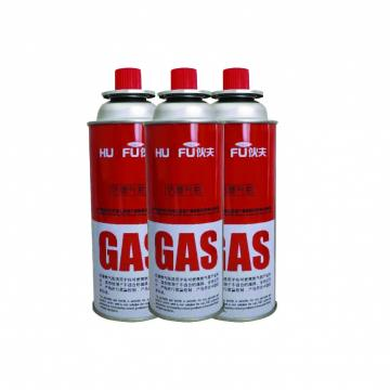 Portable butane gas cartridge and butane gas can for camping stove