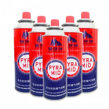 Gas refill 300ml 190g Butane gas canister in gas cylinder