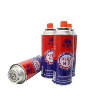 Camping gas standard butane canister refill for portable gas stove