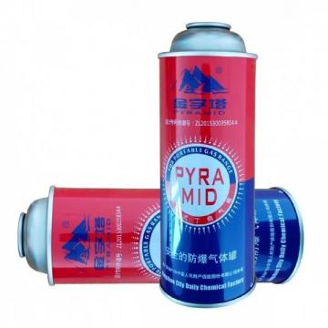 220GR Butane Gas Cylinder Nozzle Type urified butane gas for lighter